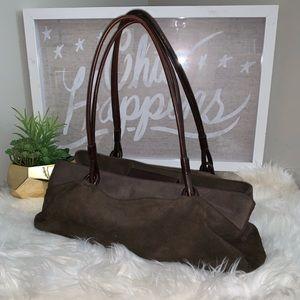 Vintage Lauren Ralph Lauren Brown Suede Handbag